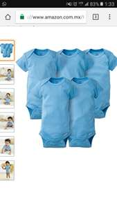 Amazon: Gerber Baby Boys' 5 Pack Onesies