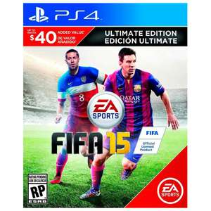 Elektra: 90$ Fifa 15 ULTIMATE EDITION para PS4