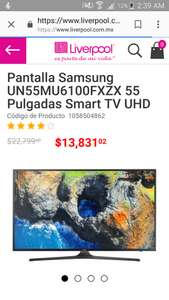 Liverpool:Tv samsung 55pulgadas-smart-tv-uhd