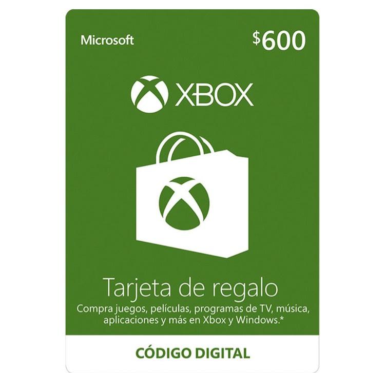 Elektra: Tarjeta de regalo Xbox de $600 a $405 con cupones