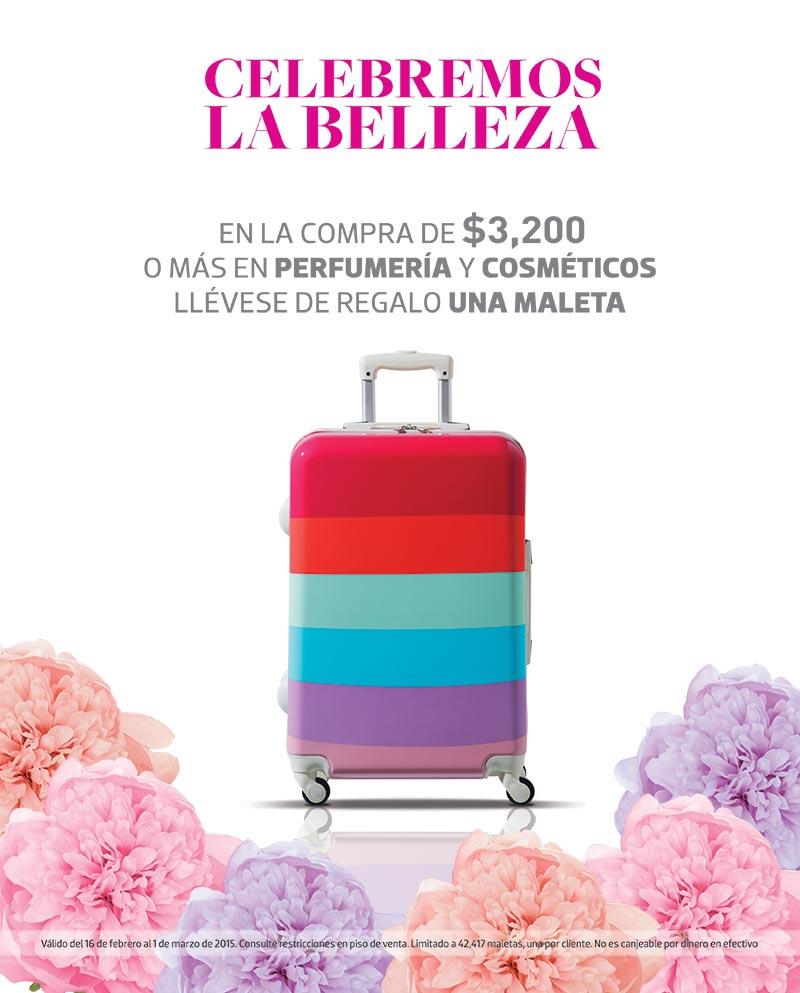 Liverpool: maleta de regalo con compra mínima en perfumería y cosméticos