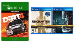 Elektra: UNCHARTED COLLECTION PS4 + UNTIL DAWN PS4 + DIRT 4 XBOX ONE