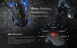Amazon: mouse Gaming con prime VicTsing 2.4G Profesional Ratón Mouse ET X-08