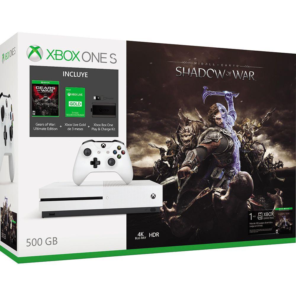 Elektra: Xbox one S 500GB + gold + carga y juega + 2 juegos (precio con cupones)