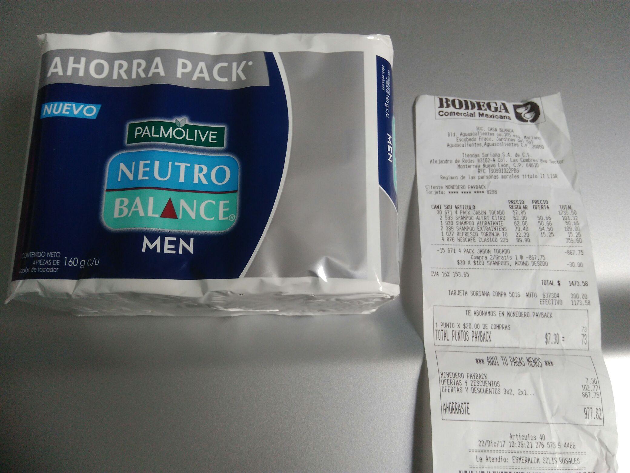 Comercial Mexicana AGS: jabón barra Palmolive men 2×1 y más