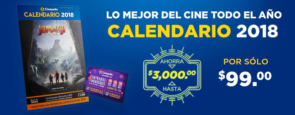 Calendario Cinépolis 2018