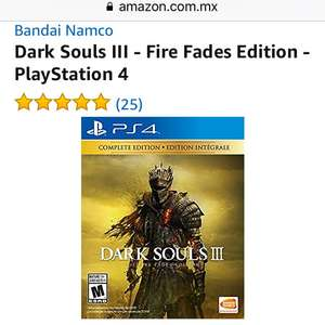 Amazon: Dark Souls 3 - Fire Fades Edition para PS4