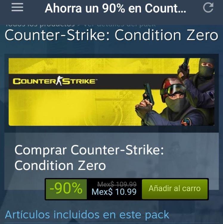 Steam: Counter-Strike: Condition Zero para PC