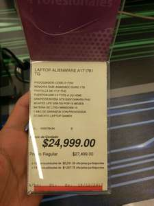 Office Depot: Alienware A17 a $24,000