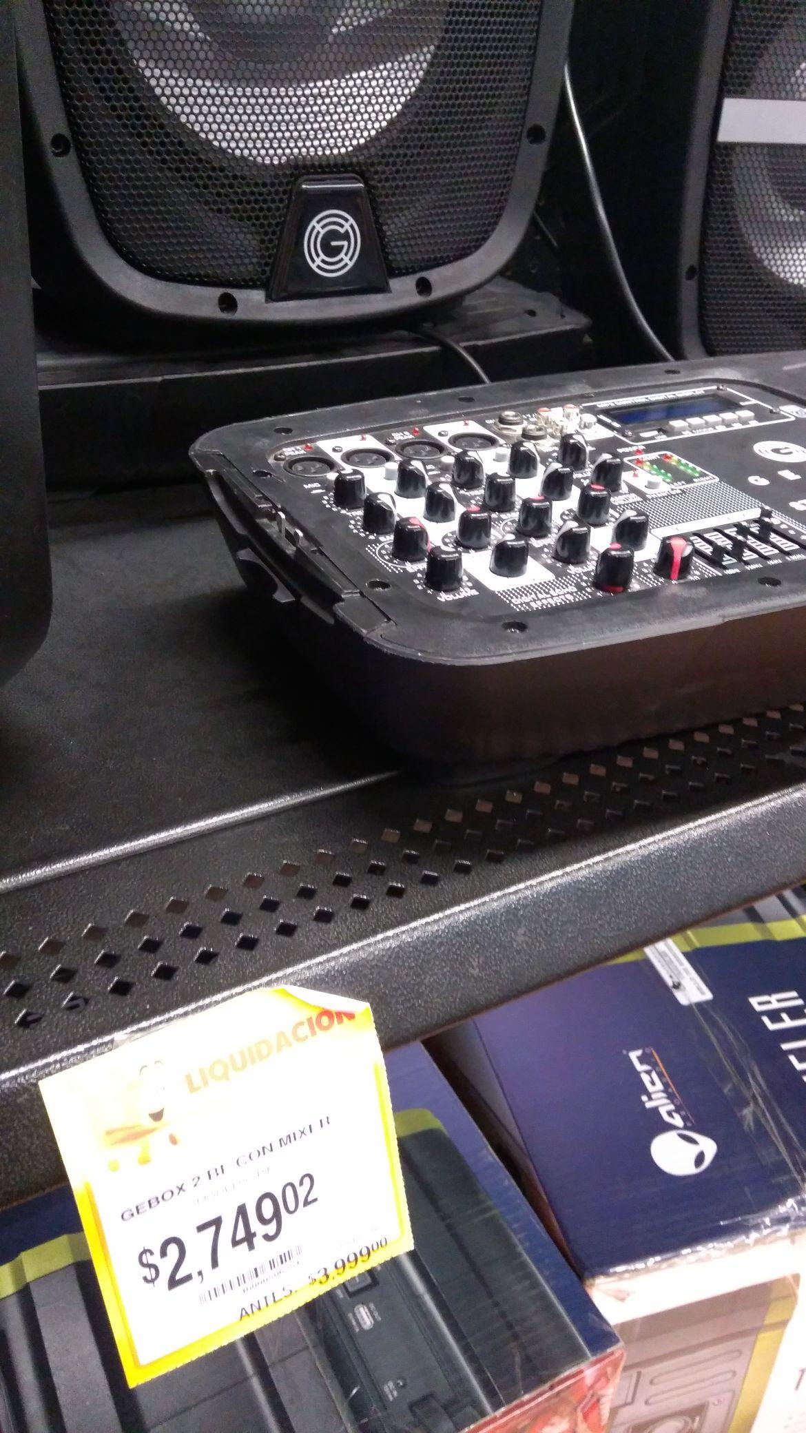 Walmart Acueducto de Guadalupe: Gebox 2 BF con Mixer Modelo BT USB FM a $1989.01