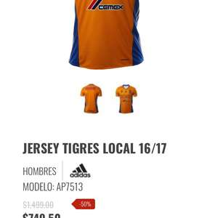 Innovasport: Jersey Tigres 16/17 5 estrellas talla chica