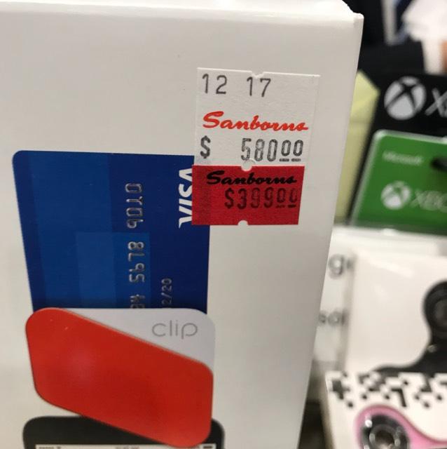 Sanborns: Clip (cobra con tarjeta) a $399