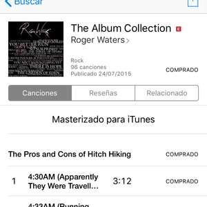 Roger Waters oferta iTunes