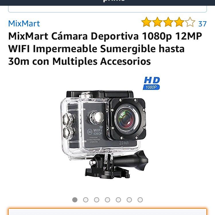 Amazon: Cámara de acción MixMart