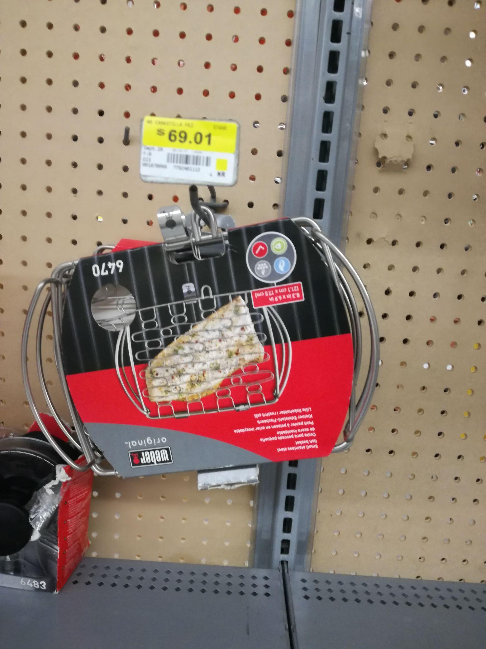 Walmart: liquidación cesta para pescado weber y pala