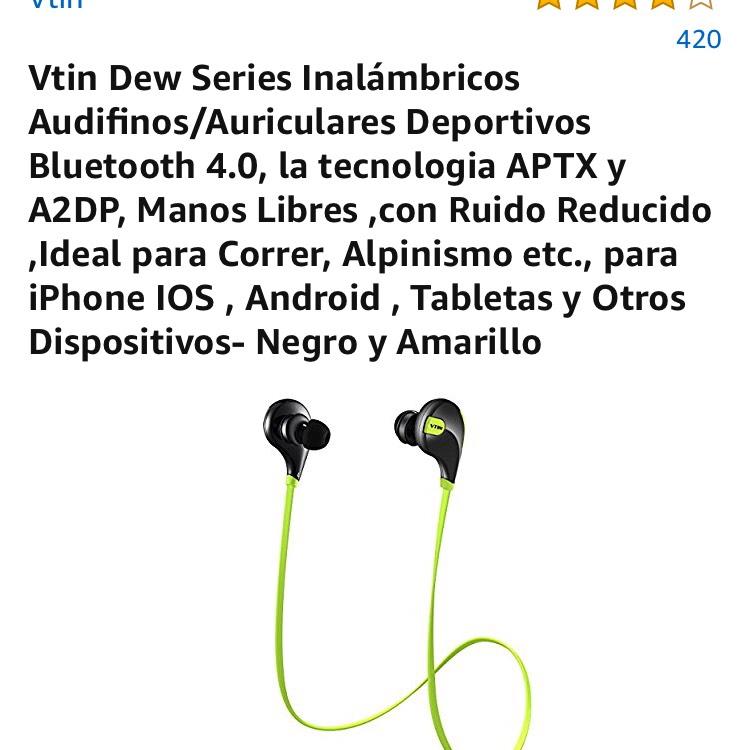 Amazon: Audífonos Dew series inalámbricos deportivos Vtin