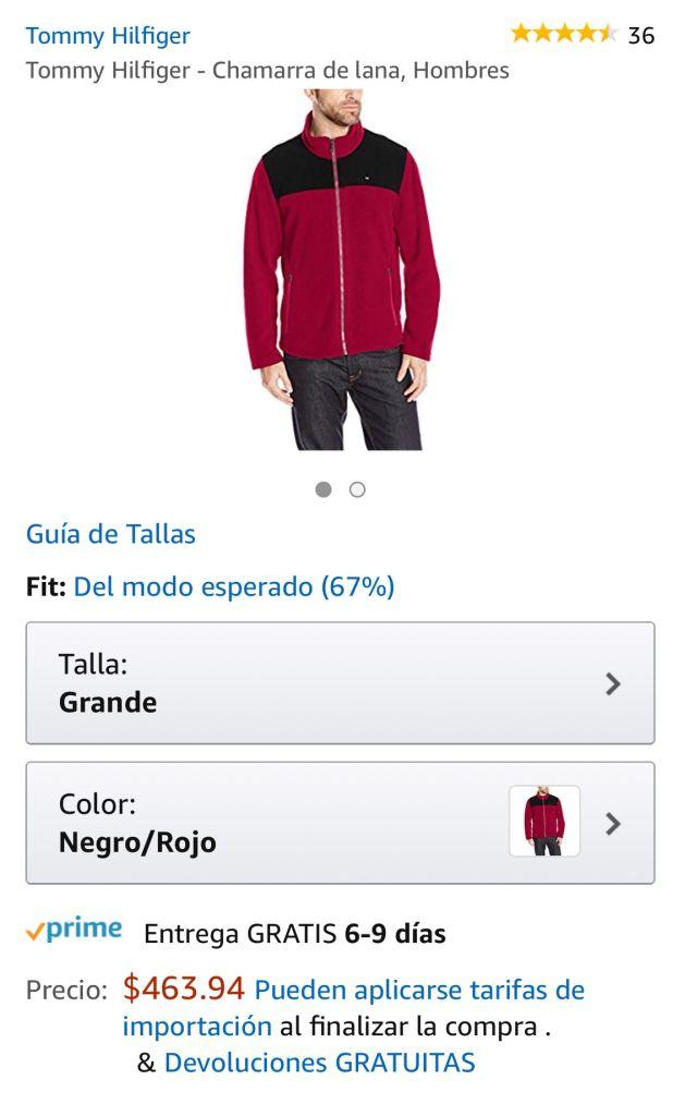 Amazon: Tommy Hilfiger - Chamarra para Hombre Varios colores y tallas