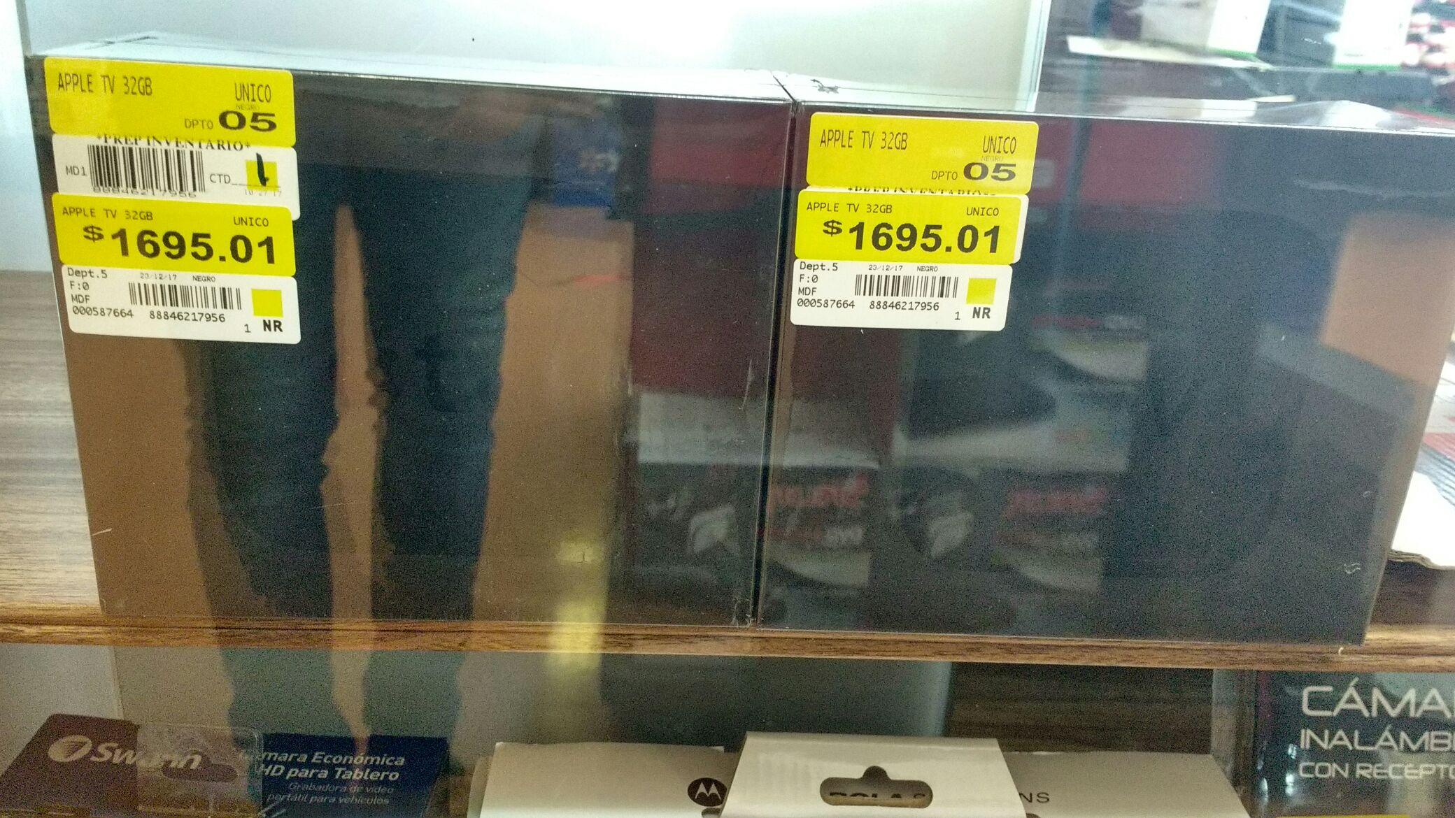 Walmart: Apple TV de 32 GB a $1,695.01