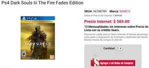 Sears online: Dark Souls III Fire Fades Edition para PS4