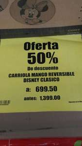 Soriana:Carriola de mango reversible Disney