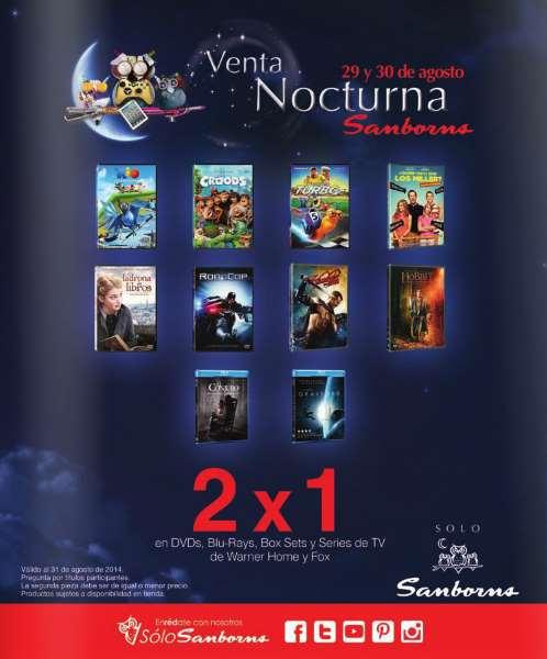 Venta Nocturna Sanborns: 2x1 en películas de Warner y Fox, hasta 30% de descuento y más