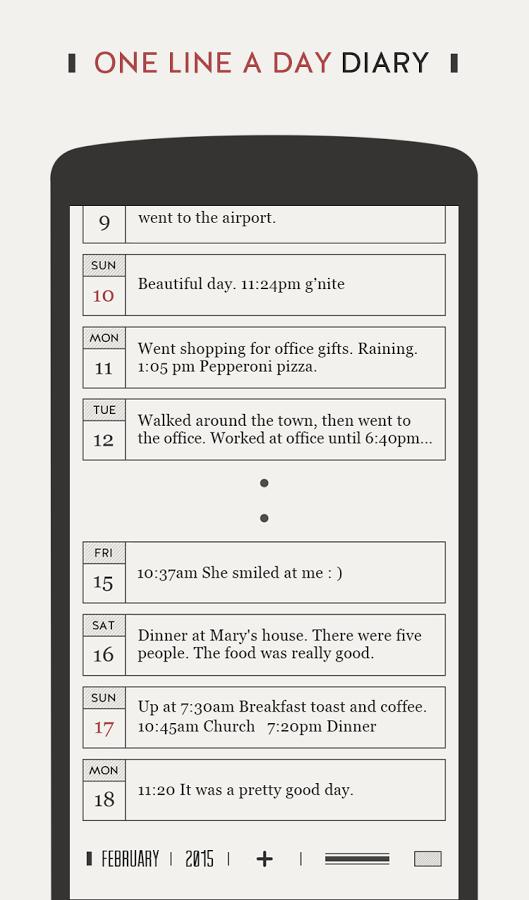 Google Play: DayGram - One line a day Diary Gratis