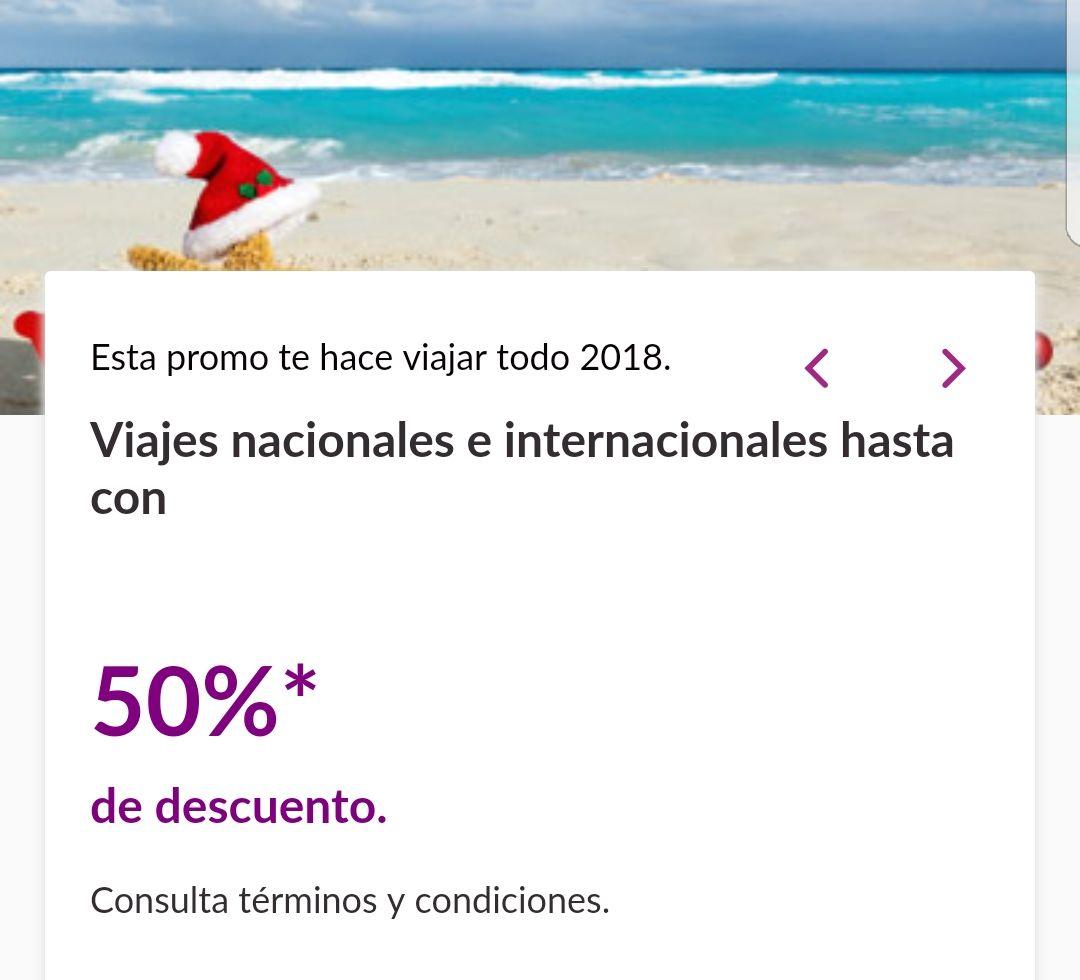 Volaris: Vuelos nacionales e internacionales 50% (ej. vuelos CUN - CDMX)