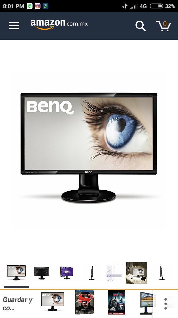 "Amazon: Monitor BQ 27"" FHD 1920x1080"