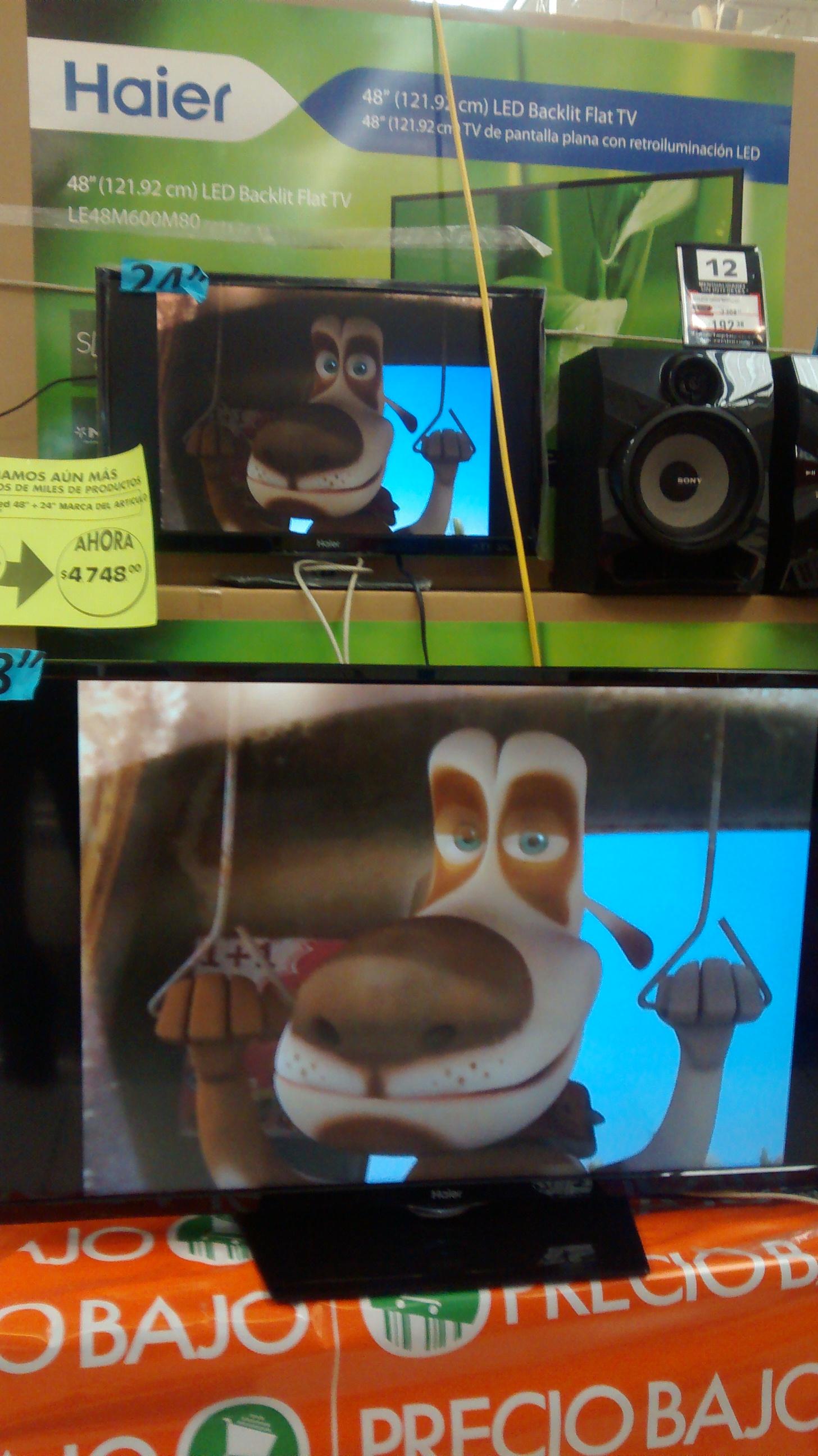 """La Comer: paquete pantallas LED 48"""" y 24"""" $4,748"""