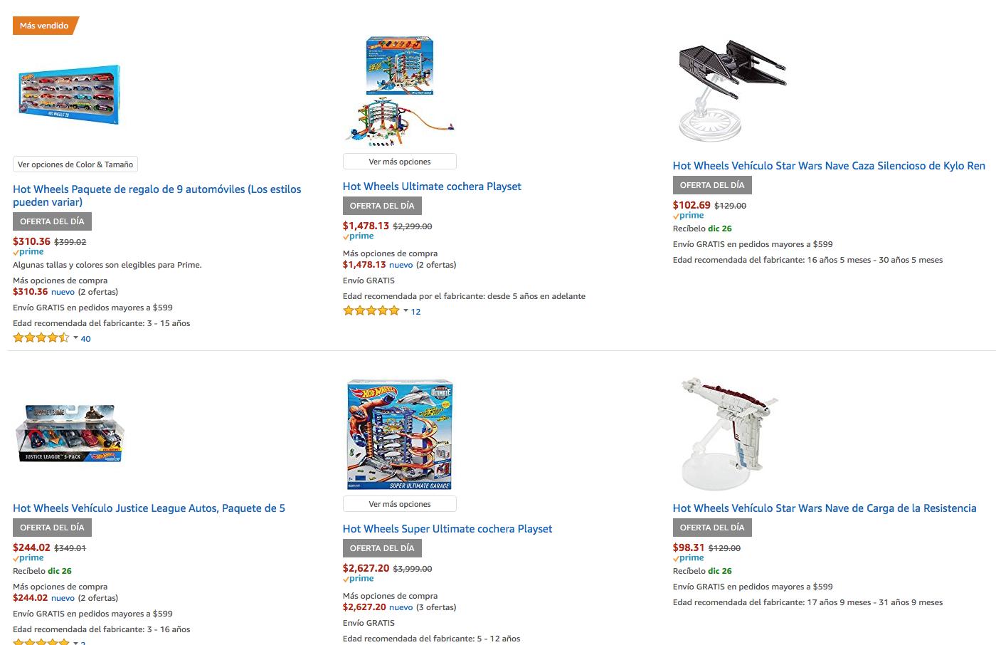 Amazon: Productos Hot Wheels hasta con 30% de descuento