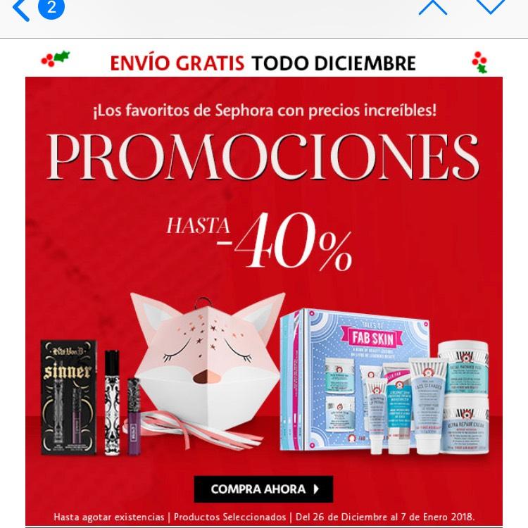 Sephora: descuentos en la página de Sephora y envío gratis lo que resta de diciembre
