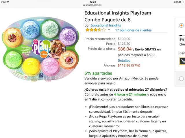 Amazon: Educational Insights Playfoam Combo Paquete de 8