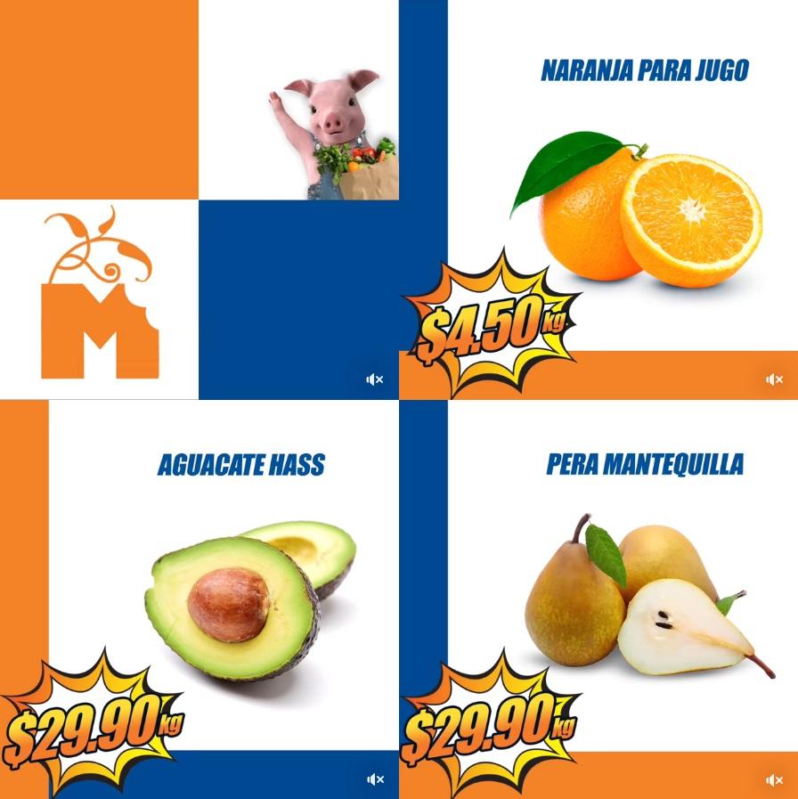 Chedraui: MartiMiércoles de FrutiVerduras 26 y 27 Diciembre: Naranja para Jugo $4.50 kg... Aguacate Hass $29.90 kg... Pera Mantequilla $29.90 kg.