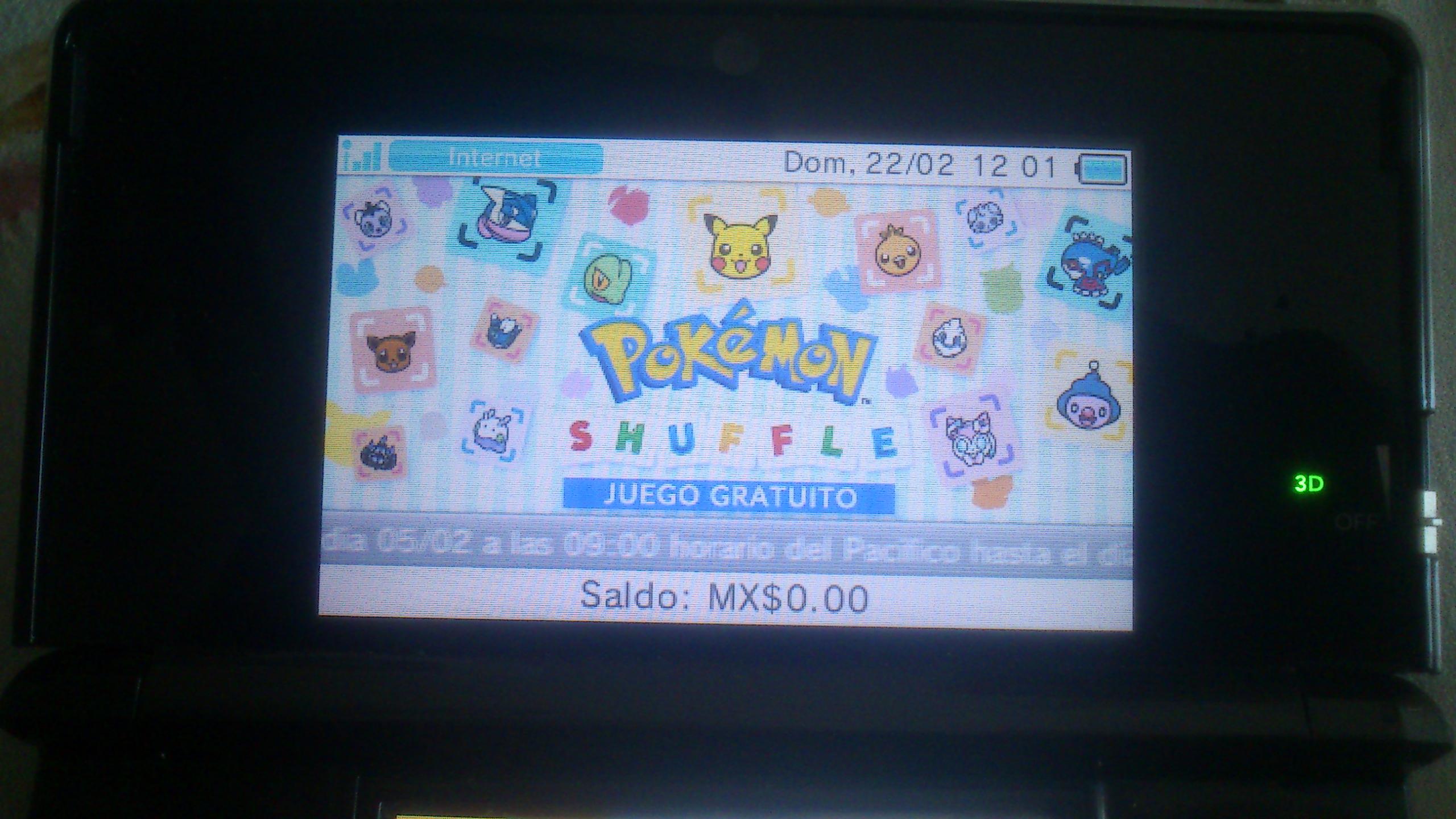 Nintendo eShop: juego Pokemon Shuffle para 3DS Gratis