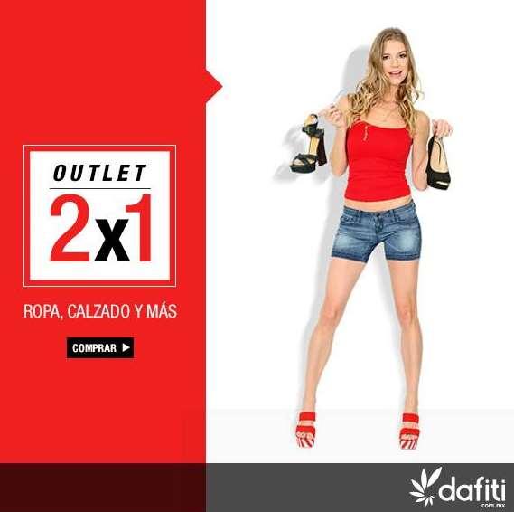 Dafiti: outlet 2x1 incluyendo rebajas más descuento de $300