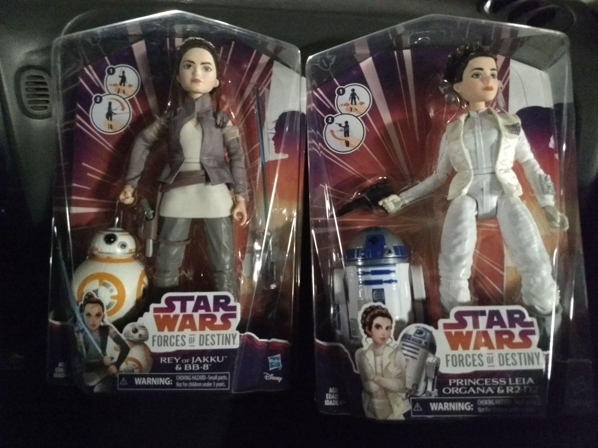 """Walmart San Juan del Río: Muñecas de Rey y Leia Star Wars """"Forces of destiny"""""""