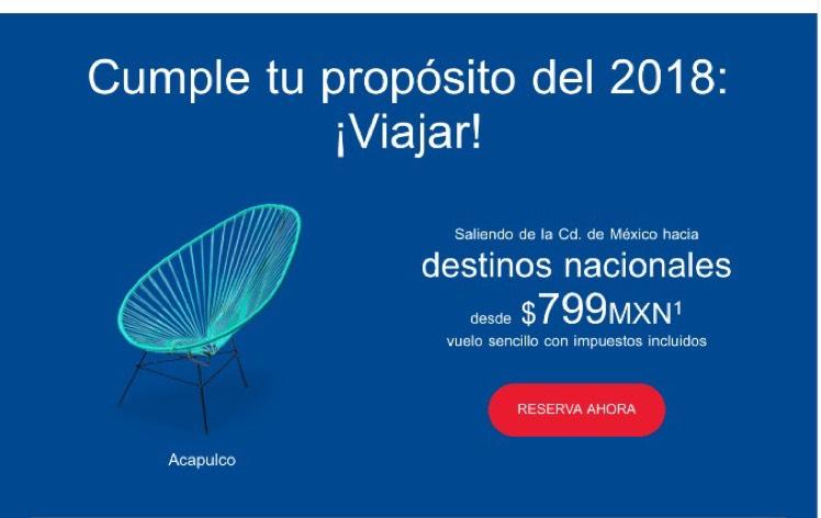 Aeroméxico: vuelos sencillos desde $799