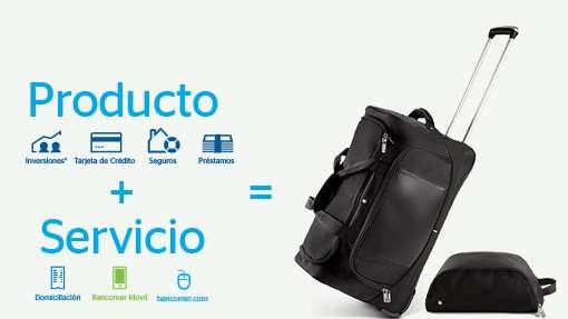 Bancomer: maleta de regalo contratando producto y servicio