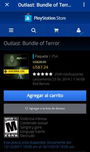 PS Store / Outlast: Bundle of terror