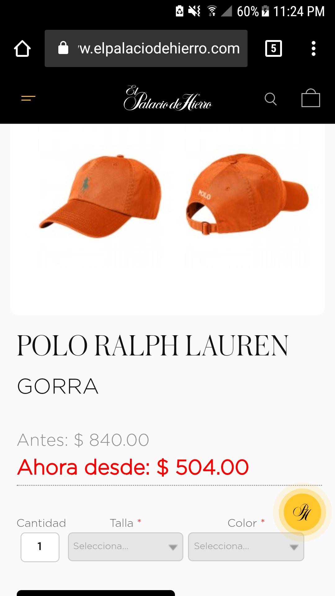 Palacio de Hierro: Gorra Polo Ralph Lauren