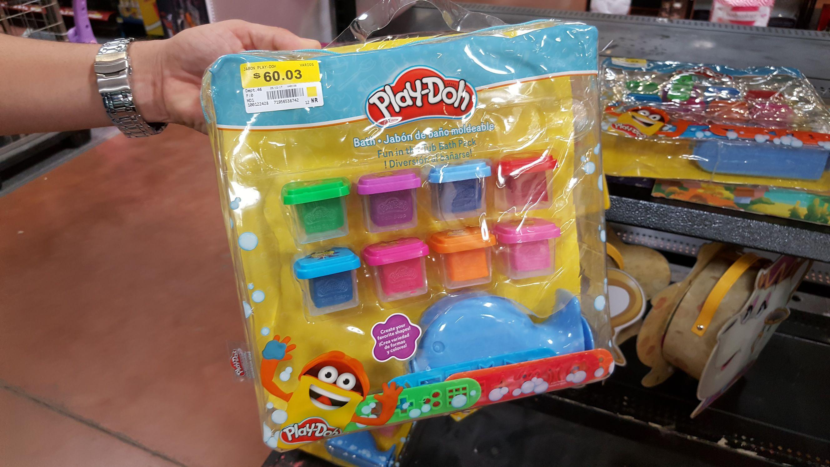 Walmart Macroplaza Pto Vallarta: Jabón de baño moldeable Play-Doh  y varias liquidaciones más