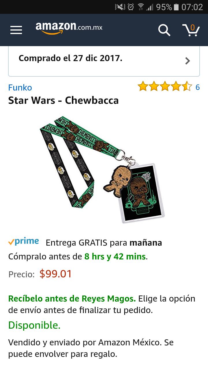 Amazon: Lanyard Star Wars - Chewbacca