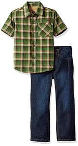 Amazon: bonito conjunto Lee Little Boys' 2pc Roll up Pant Set