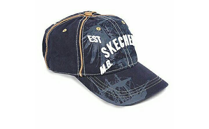 Amazon: Skechers- Gorra Azul Marino Gorra para Hombre (vendido por un tercero)