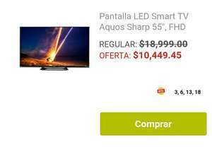 "Soriana: Pantalla LED Smart TV Aquos Sharp 55"", FHD"