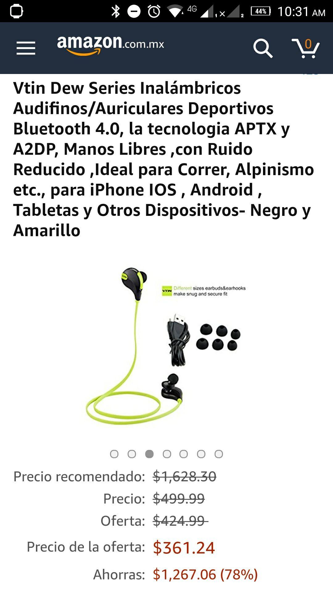 Amazon: Audífonos Bluetooth Vtin Dew (oferta relámpago)