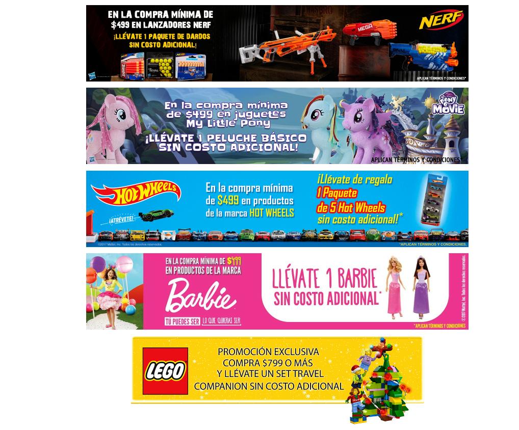 Amazon: 1 pza de regalo en compra minima de $499 en marcas participantes (Barbie, Lego, Nerf y más)