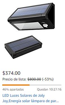Amazon: Lampra Solar 32 LEDs relampago