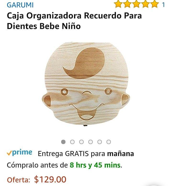 Amazon: Caja Organizadora Recuerdo Para Dientes Bebe Niño o adulto de la 3ra edad