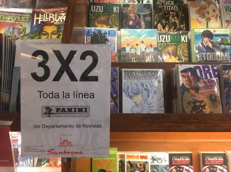 Sanborns Universidad 3x2 en toda la línea Panini